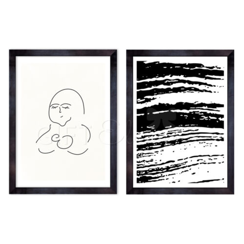 MOT-STR-2SET-1 Mother Streaks Wall Art