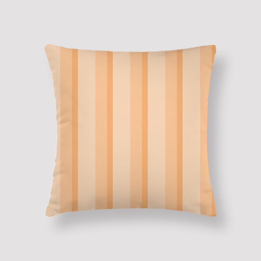 CRE-STR-CUS-1 Cream Stripes Throw Pillow