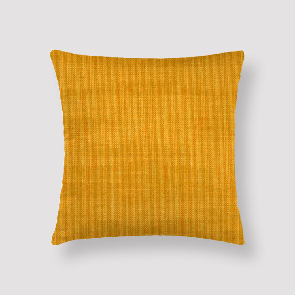 CUR-YEL-CUS-1 Curry Yellow Throw Pillow
