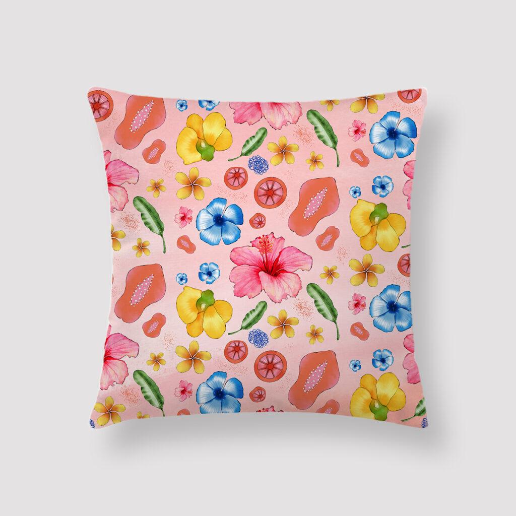 PIN-FIZ-CUS-1 Pink Fizz Cushion Throw Pillow