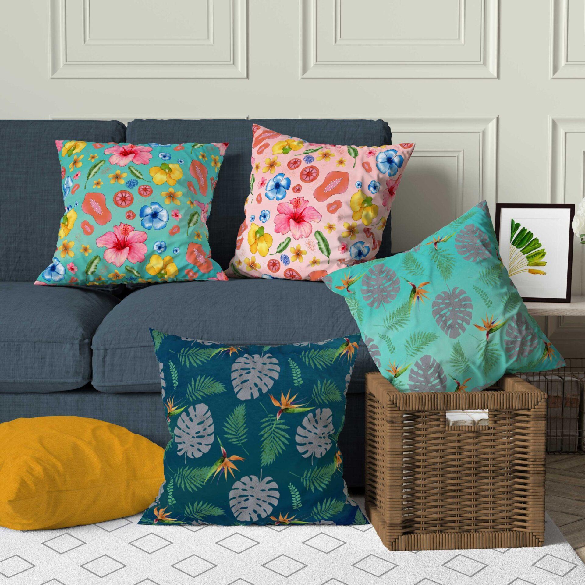 Tropical Cushion Throw Pillow Home Decor
