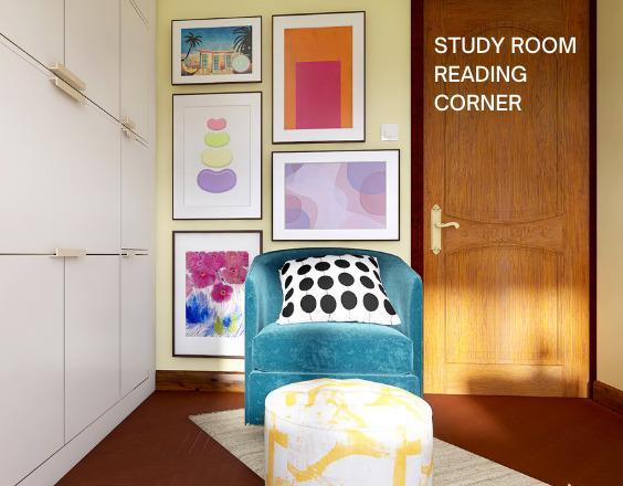 Pink Vibes Study Room Reading Corner