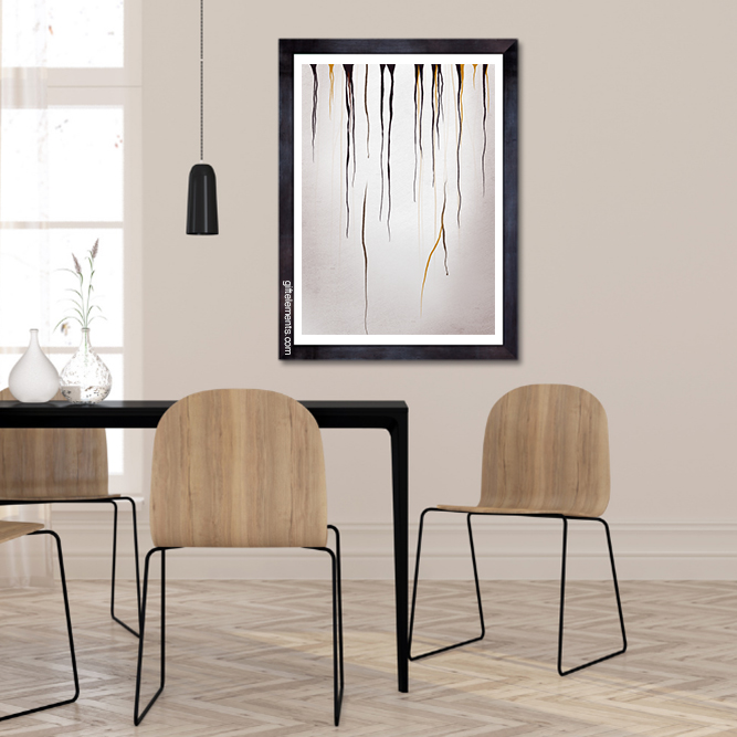 BLA-RAI-ART-1 Black Rain Wall Art